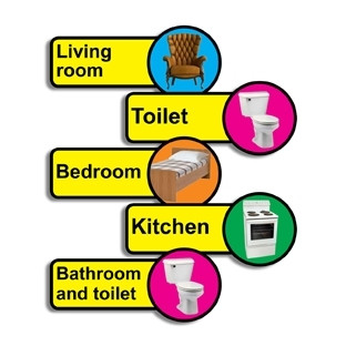 Domestic Dementia Signs Pack Of 5 Dementiasigns Co Uk