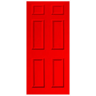 Door Vinyl Decal, Dementia Friendly - Red