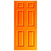 Door Vinyl Decal, Dementia Friendly - Orange