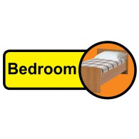 Bedroom Sign, Dementia Friendly - 48cm x 21cm