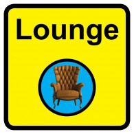 Lounge Sign, Dementia Friendly - 30cm x 30cm