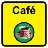 Cafe Sign, Dementia Friendly - 30cm x 30cm