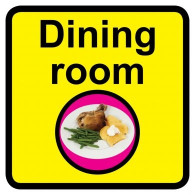 Dining Room Sign, Dementia Friendly - 30cm x 30cm