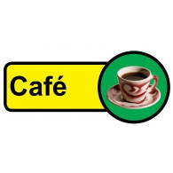 Cafe Sign, Dementia Friendly - 48cm x 21cm