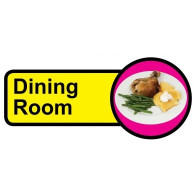 Dining Room Sign, Dementia Friendly - 48cm x 21cm
