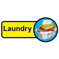 Laundry Sign, Dementia Friendly - 48cm x 21cm