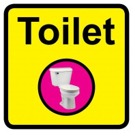 Toilet Sign, Dementia Friendly - 30cm x 30cm