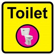 Toilet Sign, Dementia Friendly - 30cm x 30cm