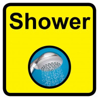 Shower Sign, Dementia Friendly - 30cm x 30cm