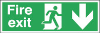 Fire Exit Running Man Arrow Down