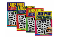 Large Print Crossword Puzzle book Set - 4 Titles