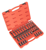 "Sealey AK2195 Spline Socket Bit Set 26pc 1/2""Sq Drive"