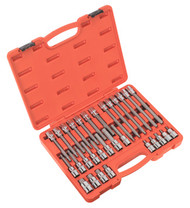 "Sealey AK2196 Hex Socket Bit Set 30pc 1/2""Sq Drive"