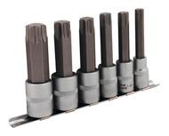 "Sealey AK627 TRX-Star Socket Bit Set 6pc 1/2""Sq Drive 100mm"