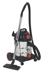 Sealey PC200SDAUTO Vacuum Cleaner Industrial 20ltr 1400W/230V Stainless Drum Auto Start