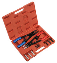Sealey AK8500 Circlip Pliers Set Internal/External 265mm Heavy-Duty