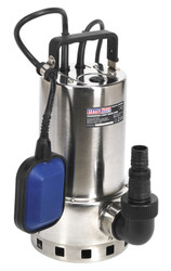 Sealey WPS225A Submersible Stainless Water Pump Automatic Dirty Water 225ltr/min 230V