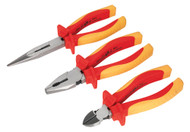 Sealey AK83452 Pliers Set 3pc VDE Approved
