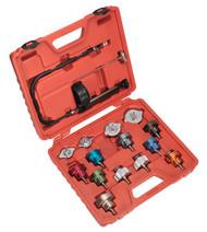 Sealey VS006 Cooling System Pressure Test Kit 16pc