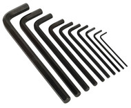 Siegen S0639 Extra-Long Hex Key Set 10pc Metric
