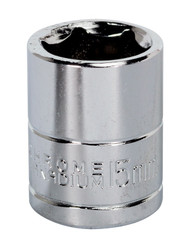 "Siegen S0582 WallDriveå¬ Socket 15mm 3/8""Sq Drive"