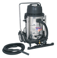 Sealey PC477 Industrial Wet & Dry Vacuum Cleaner 77ltr Stainless Drum 2400W/230V Swivel Drum Empty