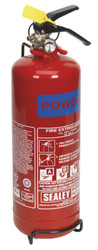 Sealey SDPE02 Fire Extinguisher 2kg Dry Powder