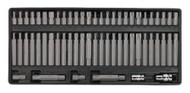 Sealey TBT11 Tool Tray with Security TRX-Star/Hex/Ribe/Spline Bit Set 60pc