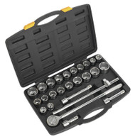 "Siegen S0713 Socket Set 26pc 3/4""Sq Drive 12pt DuoMetricå¬"