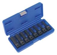 """Sealey AK5601 Impact Hex Socket Bit Set 8pc 1/2""""Sq Drive"""