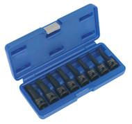 """Sealey AK5602 Impact TRX-Star Socket Bit Set 8pc 1/2""""Sq Drive"""