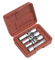 "Sealey SX0402 Diesel Glow Plug Socket Set 4pc 3/8""Sq Drive"