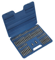 "Sealey AK21974 TRX-Star/Security TRX-Star/Hex/Ribe/Spline Bit Set 74pc 3/8"" & 1/2""Sq Drive"