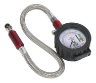 Sealey TSTPDG02 Tyre Pressure Gauge with Tyre Tread Depth Gauge - Flexible Hose