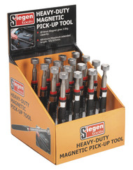 Siegen S0823DB Heavy-Duty Magnetic Pick-Up Tool 3.6kg Capacity Display Box of 16