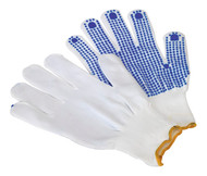 Sealey SSP51 PVC Anti-Slip Nylon Knitted Gloves - Pair