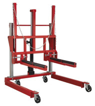 Sealey W508T Wheel Removal Trolley 500kg Adjustable Width