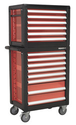 Sealey APTTC02 Topchest & Rollcab Combination 14 Drawer with Ball Bearing Runners & 1233pc Tool Kit