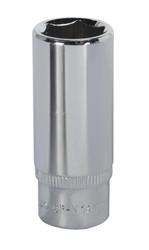 "Sealey SP1414D WallDriveå¬ Socket 14mm Deep 1/4""Sq Drive Fully Polished"