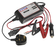 Sealey SMC01 Compact Auto Maintenance Battery Charger - 3-Cycle 12V
