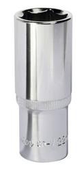 "Sealey SP1222D WallDriveå¬ Socket 22mm Deep 1/2""Sq Drive Fully Polished"
