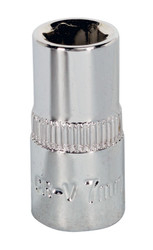 "Sealey SP1407 WallDriveå¬ Socket 7mm 1/4""Sq Drive Fully Polished"