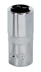 "Sealey SP1408 WallDriveå¬ Socket 8mm 1/4""Sq Drive Fully Polished"