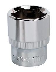 "Sealey SP3817 WallDriveå¬ Socket 17mm 3/8""Sq Drive Fully Polished"