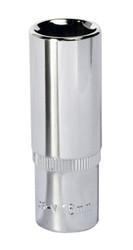 "Sealey SP3816D WallDriveå¬ Socket 16mm Deep 3/8""Sq Drive Fully Polished"