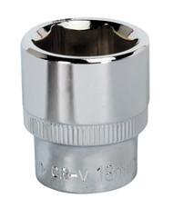 "Sealey SP3818 WallDriveå¬ Socket 18mm 3/8""Sq Drive Fully Polished"