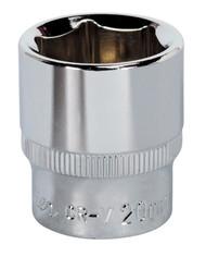"Sealey SP3820 WallDriveå¬ Socket 20mm 3/8""Sq Drive Fully Polished"