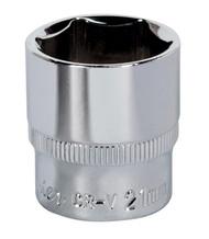 "Sealey SP3821 WallDriveå¬ Socket 21mm 3/8""Sq Drive Fully Polished"