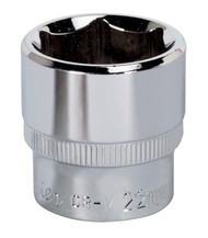 "Sealey SP3822 WallDriveå¬ Socket 22mm 3/8""Sq Drive Fully Polished"