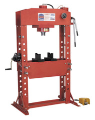 Sealey YK759FAH Air/Hydraulic Press 75tonne Floor Type with Foot Pedal